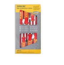 Csavarhúzó klt 6 részes, piros-sárga nyéllel, Tüv/G