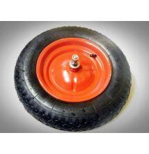 Talicska kerék 3.5x8 fém felnis, pumpálható, csapágyas+tengellyel