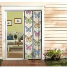 Rovarháló mágneses ajtóra 210x100 cm, pillangós