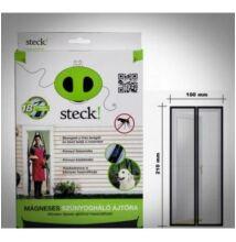 Rovarháló mágneses ajtóra 210x100 cm, fekete
