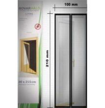 Rovarháló ajtóra, 4 részes fekete függöny 210 x 100cm