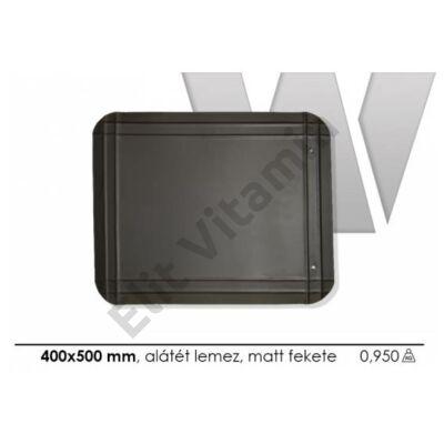 Kályha alátét lemez fekete 400x500mm P.Á.