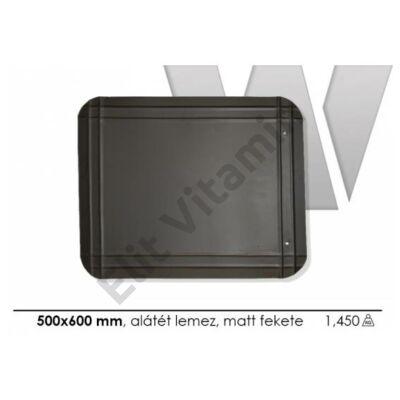 Kályha alátét lemez fekete 500x600mm P.Á.