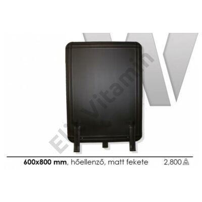 Hőellenző fekete 600x800mm, talpas P.Á.