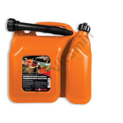 Üzemanyag kanna osztott, 6+2,5 literes műanyag
