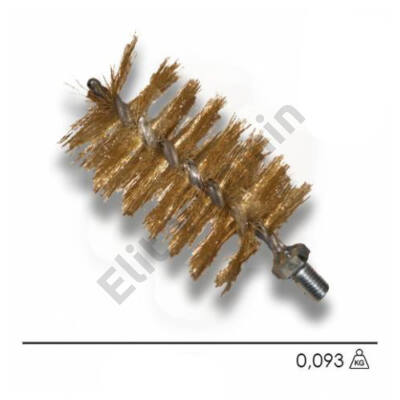 Kazánkefe sárga acél, nyél nélkül, 30mm