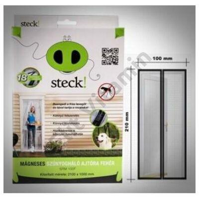 Rovarháló mágneses ajtóra 210x100cm, fehér
